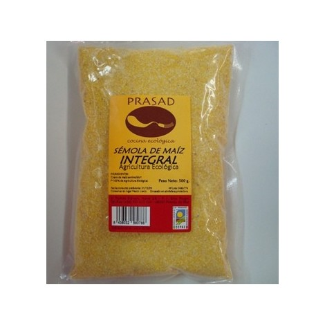 Sémola integral de maíz polenta -Bioprasad- 500 gr