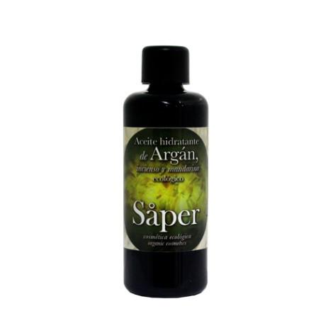 Aceite hidratante de argán,incienso y mandarina-SAPER-100 ml