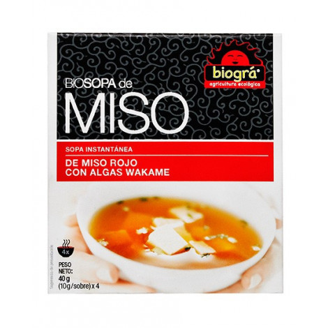 Sopa Miso Rojo alga Wakame-Biográ-40g