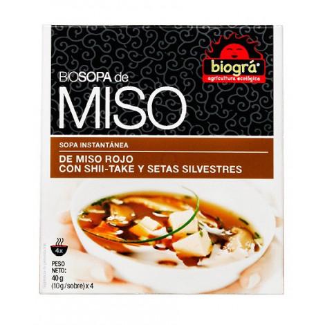 Sopa Miso rojo shitake Setas silvestres -Biográ-40 g