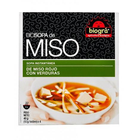 Sopa Miso Rojo con verduras-Biográ-40g