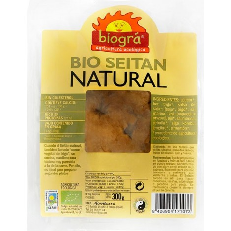 Seitán Fresco Natural-Biográ-300 g