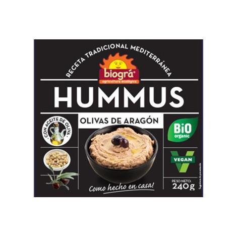 Hummus olivas de Aragón-Biográ-240g