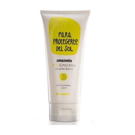 Protector solar Amazonia cuerpo y cara - Amapola Biocosmetics  - 200ml