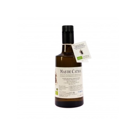 Aceite de oliva botella cristal oscura - Mas de Catxol- botella 1 litro