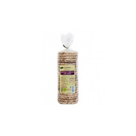 Tortitas 5 cereales con algas - Algamar - 140gr
