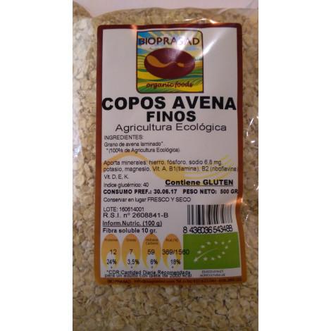 Copos de avena finos- Bioprasad- 500 gr