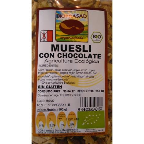 Muesli con chocolate -Bioprasad- 250 gr