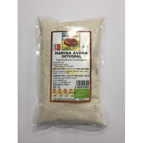 Harina Avena Integral Sin gluten -Bioprasad- 500 gr
