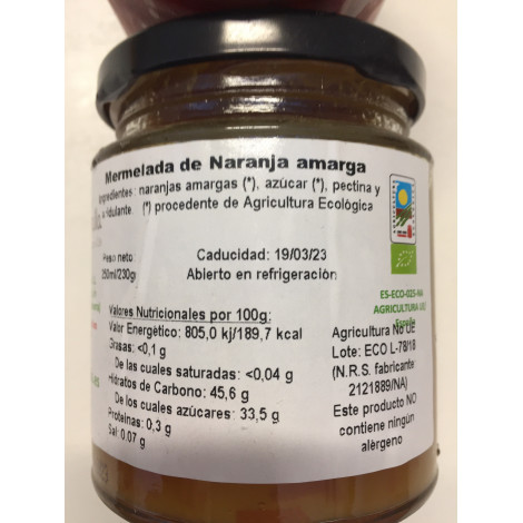 Mermelada de Naranja amarga -Bio Trailla- tarro 230 gr