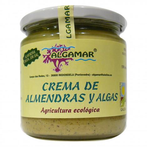 Crema de almendra cruda y algas- Algamar-320 gr.